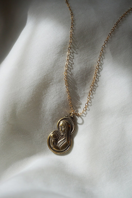 Vintage Mary Pendant Necklace