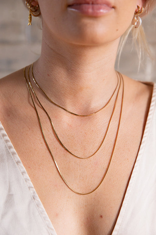 Gold Filled Snake Chain Necklace