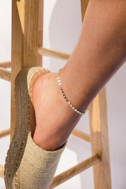 Disco Anklet Silver