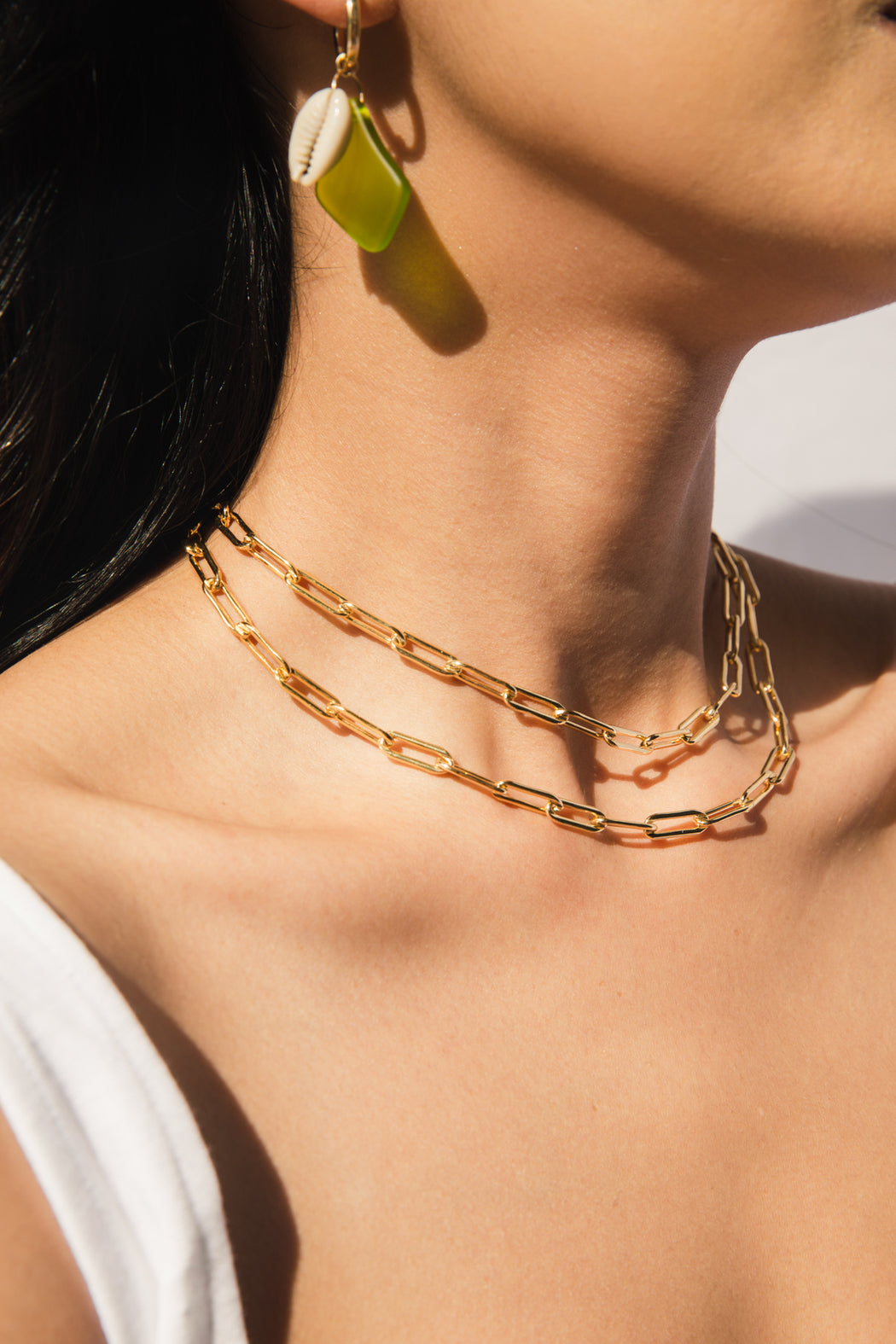 14k gold filled link chain necklace