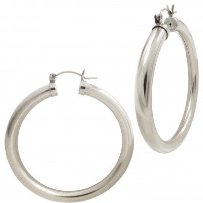 Gia Hoops Silver 2''