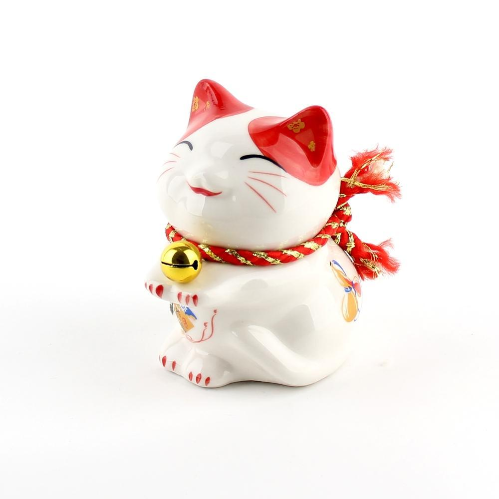 Coin Bank (Ceramic/Polyester/Copper/Lucky Cat/9.5x7.5x9.5cm)