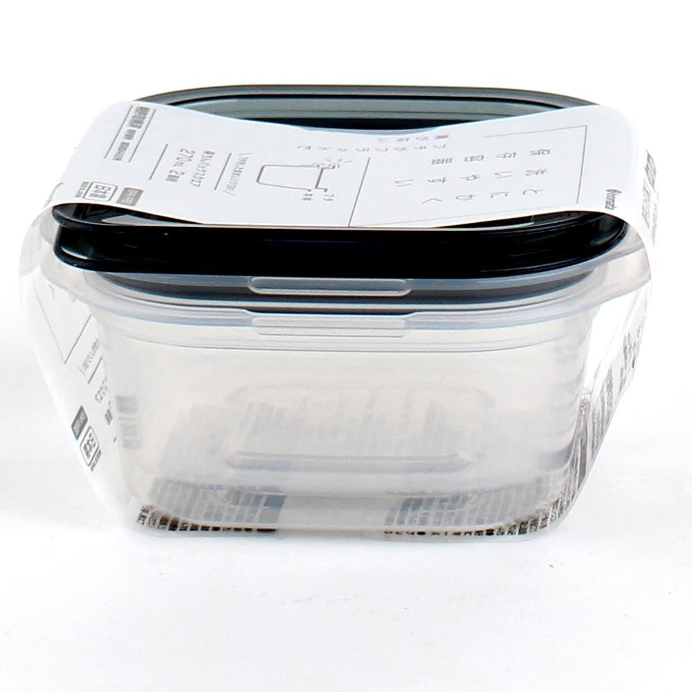 Plastic Food Container (Microwave Safe/Square/270mL (2pcs))