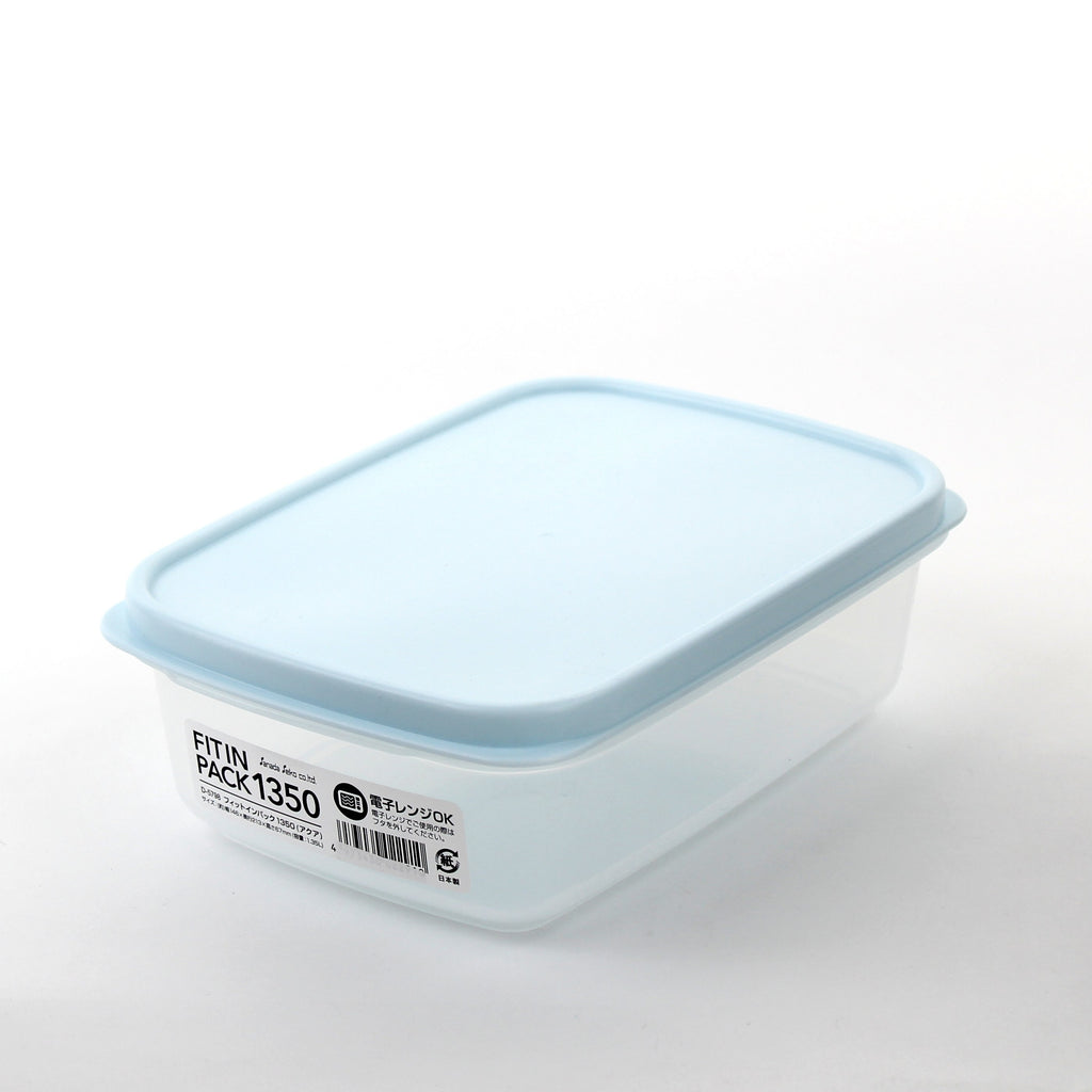 Food Container (PP/Compact/Stackable/Heat Resistant Up To 140? /For Leftovers/1.35L/Fit In)