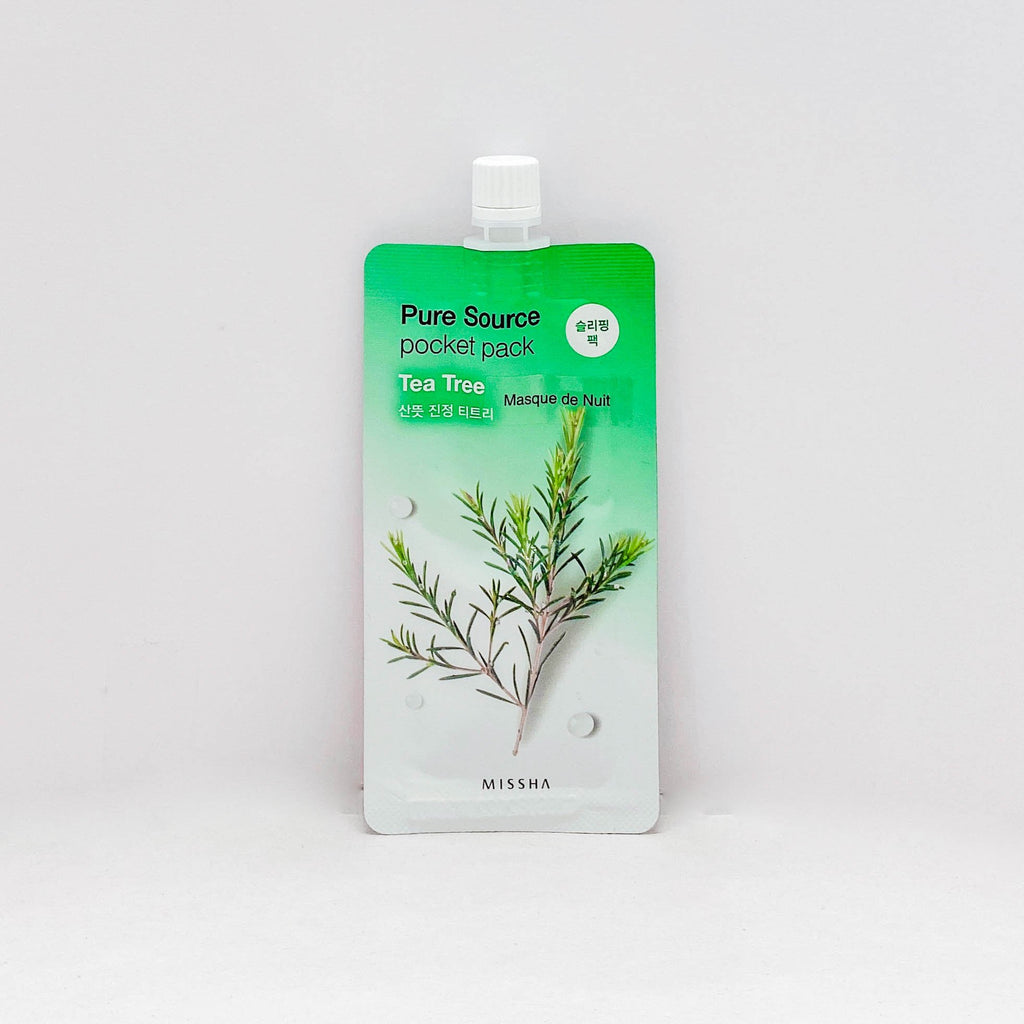 Face Sheet Mask (Missha Pure Source Pocket Pack Tea Tree / 1Pc)