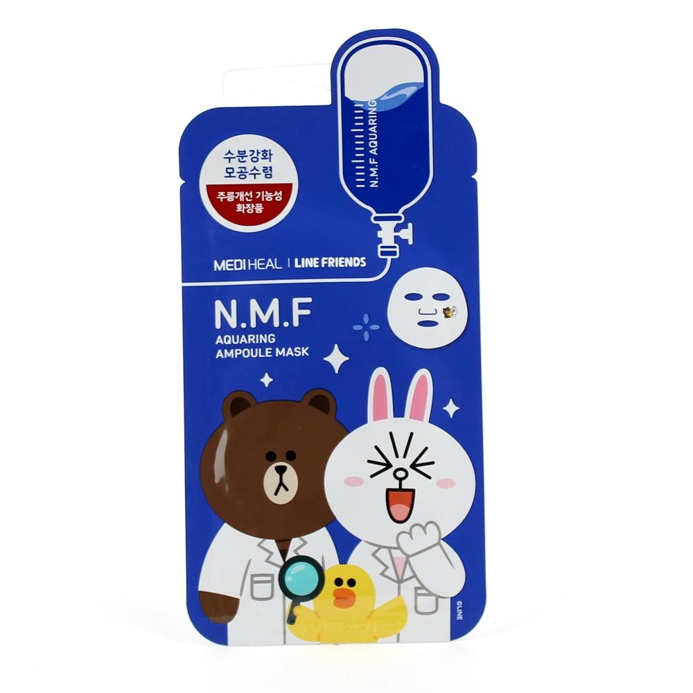 Face Sheet Mask (MEDIHEAL Line Friends NMF Aquaring Mask  / 1pc)