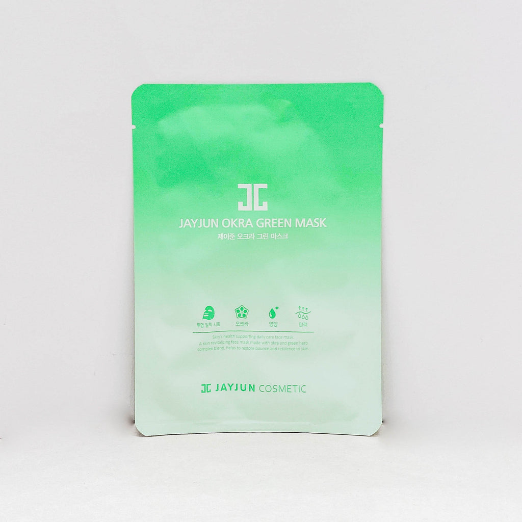 Face Sheet Mask (Jayjun Okra Green Mask / 1Pc)