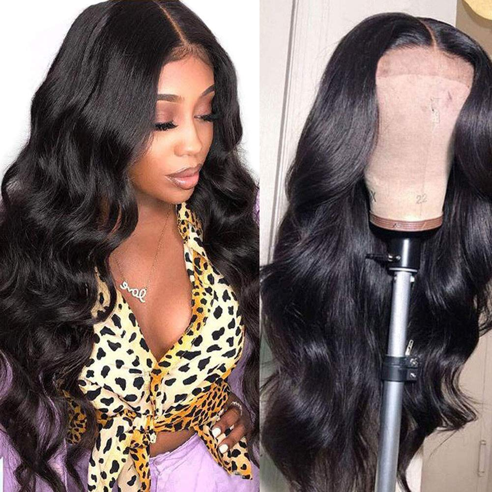 Body Wave 4x4 Lace Closure Wigs For Women Peruvian Body Wave Human Hair Wigs 180% Density ISEE HAIR Lace Closure Human Hair Wigs