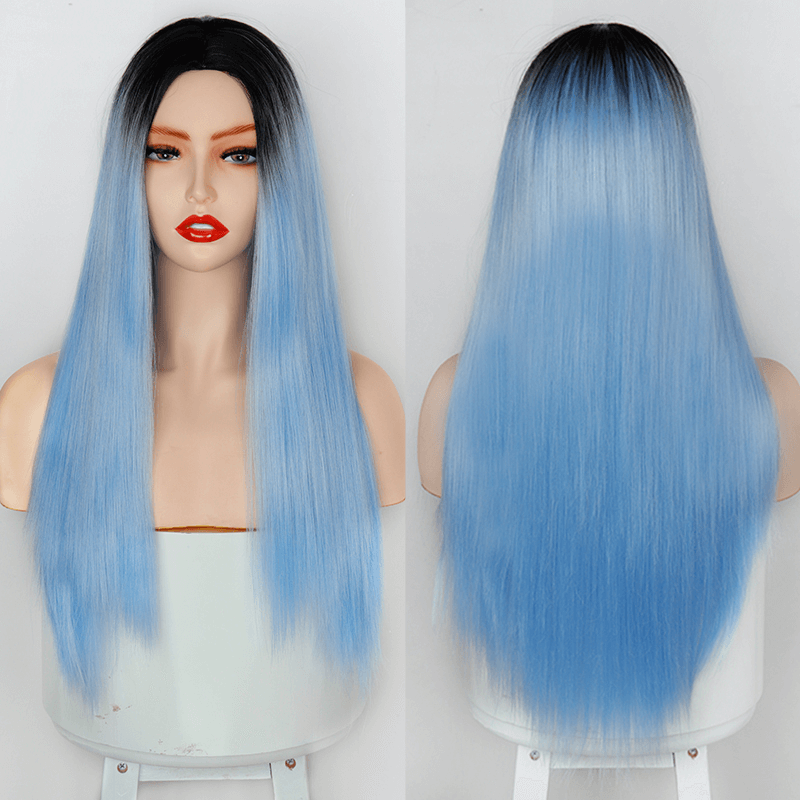 Ombre Blue Cosplay Wig