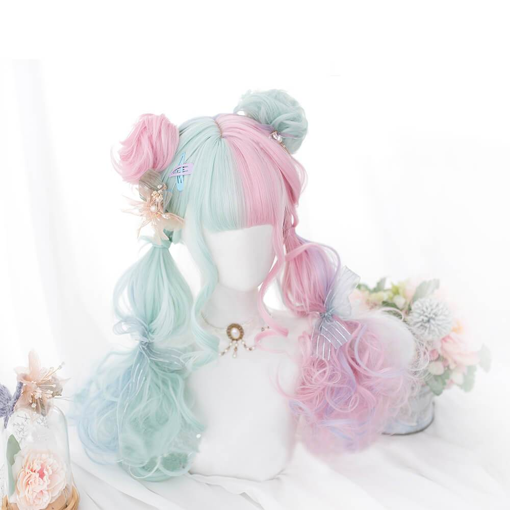 Candypop | Pink to Green Lolita Long Wig SW211