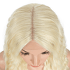 Curly Blonde Middle Part Lace Front Wig