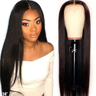 HD Transparent Lace Wigs T Part Straight Lace Front Wig Brazilian Straight
