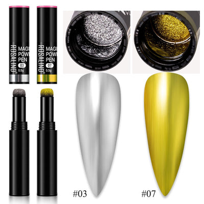 Nail Glitter Magical Mirror Pen For Manicure Sequins for nails need Gel polish Top base coat nails art accessories
