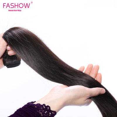 Indian Hair Straight Hair Bundles 100% Natural Human Hair Bundles Double Wefts Remy Hair Extensions