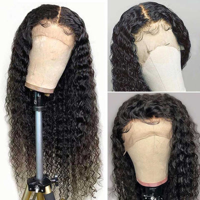 Deep Wave Wig Lace Front Human Hair Wigs Hd Transparent