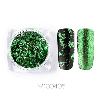 Nails Art Glitter Pigment Powder Gel Polish Mirror Manicure Sparkles For Nails UV Decorations Chrome Holographic Nail