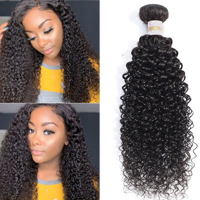 Kinky Curly Human Hair Bundles Peruvian Hair Extensions Remy 1/3/4 Pieces Thick Curly Hair Bundles