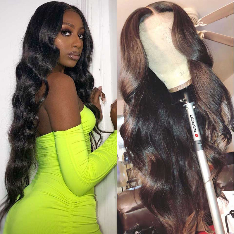 Body Wave Lace Front Wig Hd Transparent Lace Wig 180% Brazilian