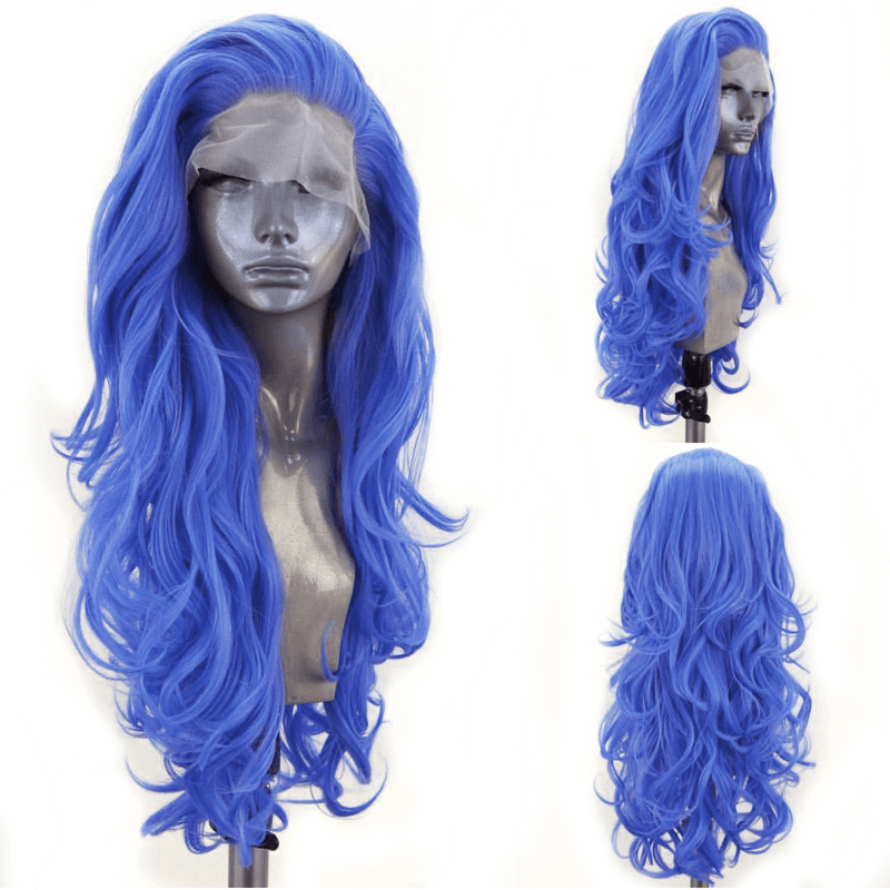Long Wavy Side Part Synthetic Lace Front Wig