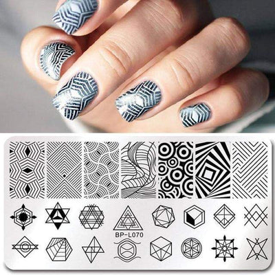 BORN PRETTY - Geometry Rectangle Stamping Template