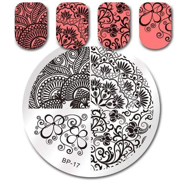 BORN PRETTY - Nail Art Stamping Template