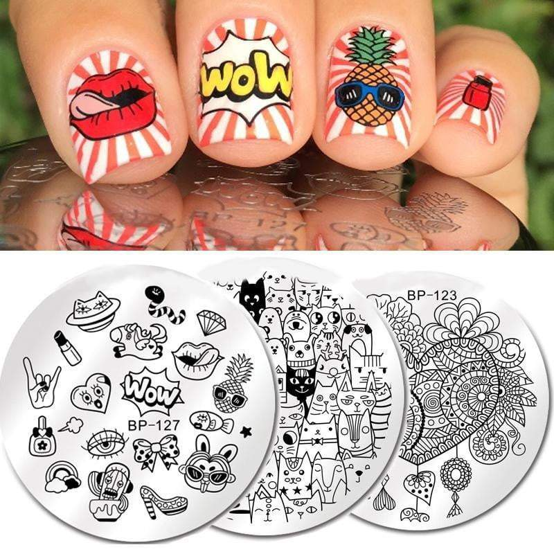 BORN PRETTY - Round Nail Stamping Plate