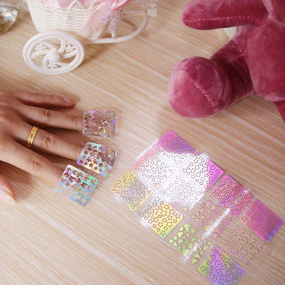 ISHOWTIENDA - 6 Sheets Nail Hollow Irregular Grid
