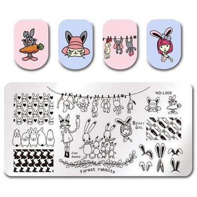 NICOLE DIARY - Nail Stamping Plates Lace