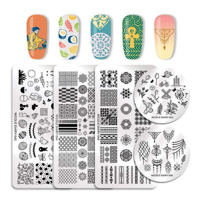 NICOLE DIARY - Stamping Plates Stainless Steel