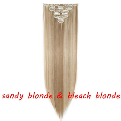 16 Colors Long Straight Clip In Hair Extensions SW109