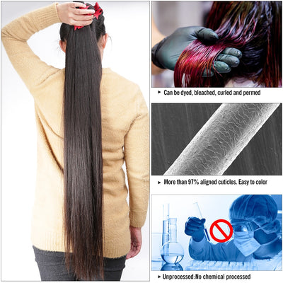 Wigirl Straight Virgin Remy Brazilian Hair Weave Human