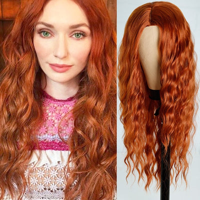 Long Water Wave Hairstyle Wigs For Women Synthetic