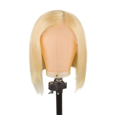 blonde 613 closure bob wig 13x1 lace front human hair straight frontal wigs for black women Brazilian