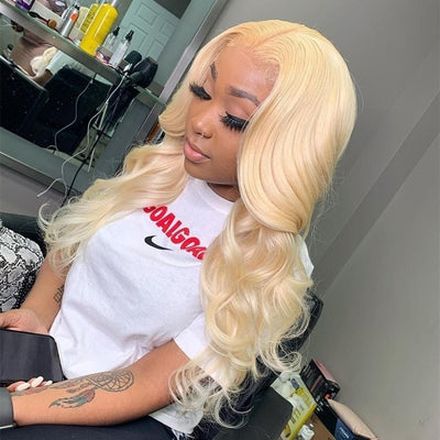 613 Frontal Wig Brazilian Straight Lace Front Human Hair Wigs For Black Women Honey