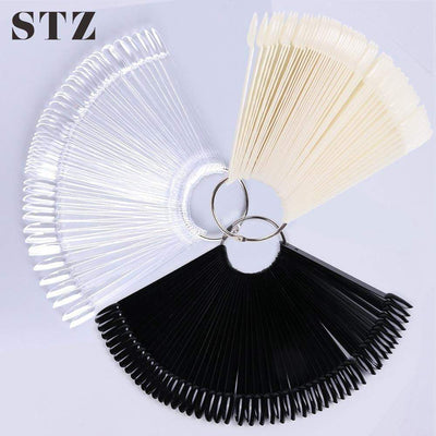STZ - Tips/Set False Nails Fan Display