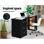 Load image into Gallery viewer, Artiss Office Computer Desk Student Study Table Workstation 3 Drawers 120cm Black