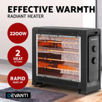 Load image into Gallery viewer, Devanti 2200W Electric Infrared Radiant Convection Panel Heater Portable