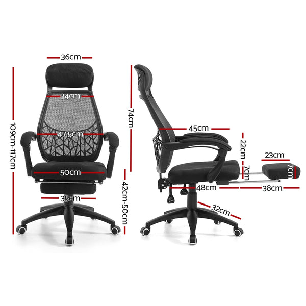Artiss Gaming Office Chair Computer Desk Chair Home Work Study Black