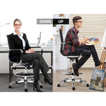 Load image into Gallery viewer, Artiss Office Chair Veer Drafting Stool Mesh Chairs Armrest Standing Desk Black