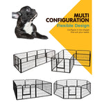 Load image into Gallery viewer, i.Pet 8 Panel Pet Dog Playpen Puppy Exercise Cage Enclosure Fence Play Pen 80x60cm