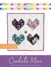 Load image into Gallery viewer, Cordate Mini PDF Quilt Pattern - Automatic Download