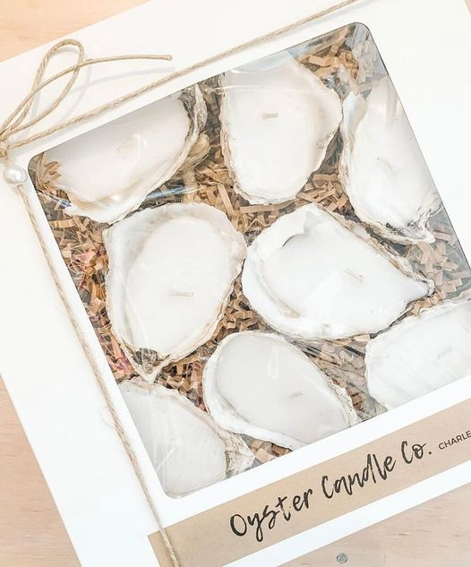 8 Piece Oyster Candle Gift Set