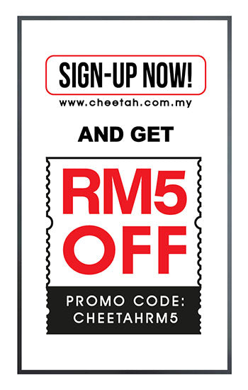 Sign up Now & Get RM5 off for your 1st Order