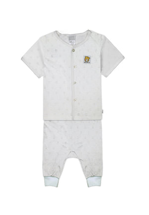 Baby Cheetah Boy Short Sleeves Suitset - CBB-182342(F)