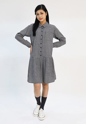 Cheetah Ladies Flounced Hem Shirt Dress - CL-19576
