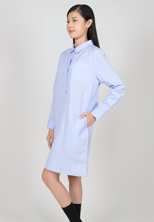 Cheetah Ladies Long Sleeve Shirtdress - CL-19656
