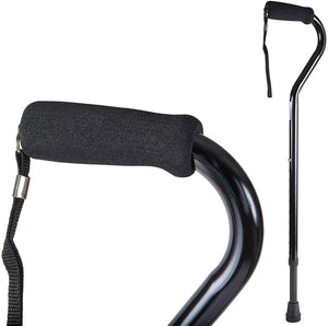 Carex Offset Aluminum Cane With Soft Cushioned Handle
