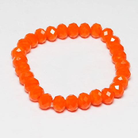 *Orange Crystal Bracelet