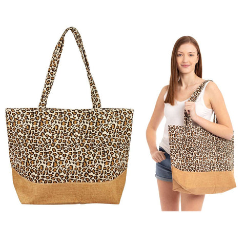 * Large Leopard Tote Bag