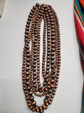 Copper Navajo Pearl Layered 5 Strand Necklace